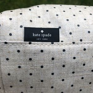 NWOT Kate Spade Waxed Canvas Polka Dot Lunch Tote